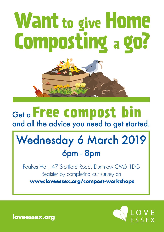 uttlesford composting workhop - a4 poster