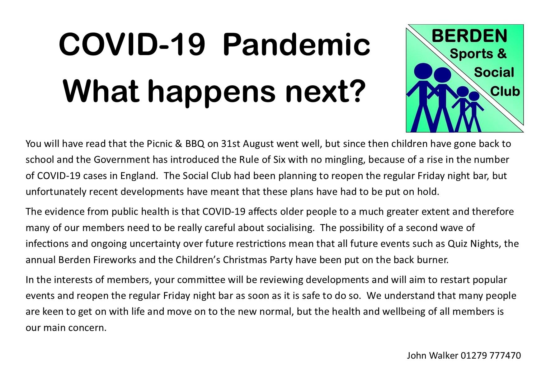 COVID-19 Parish News Item