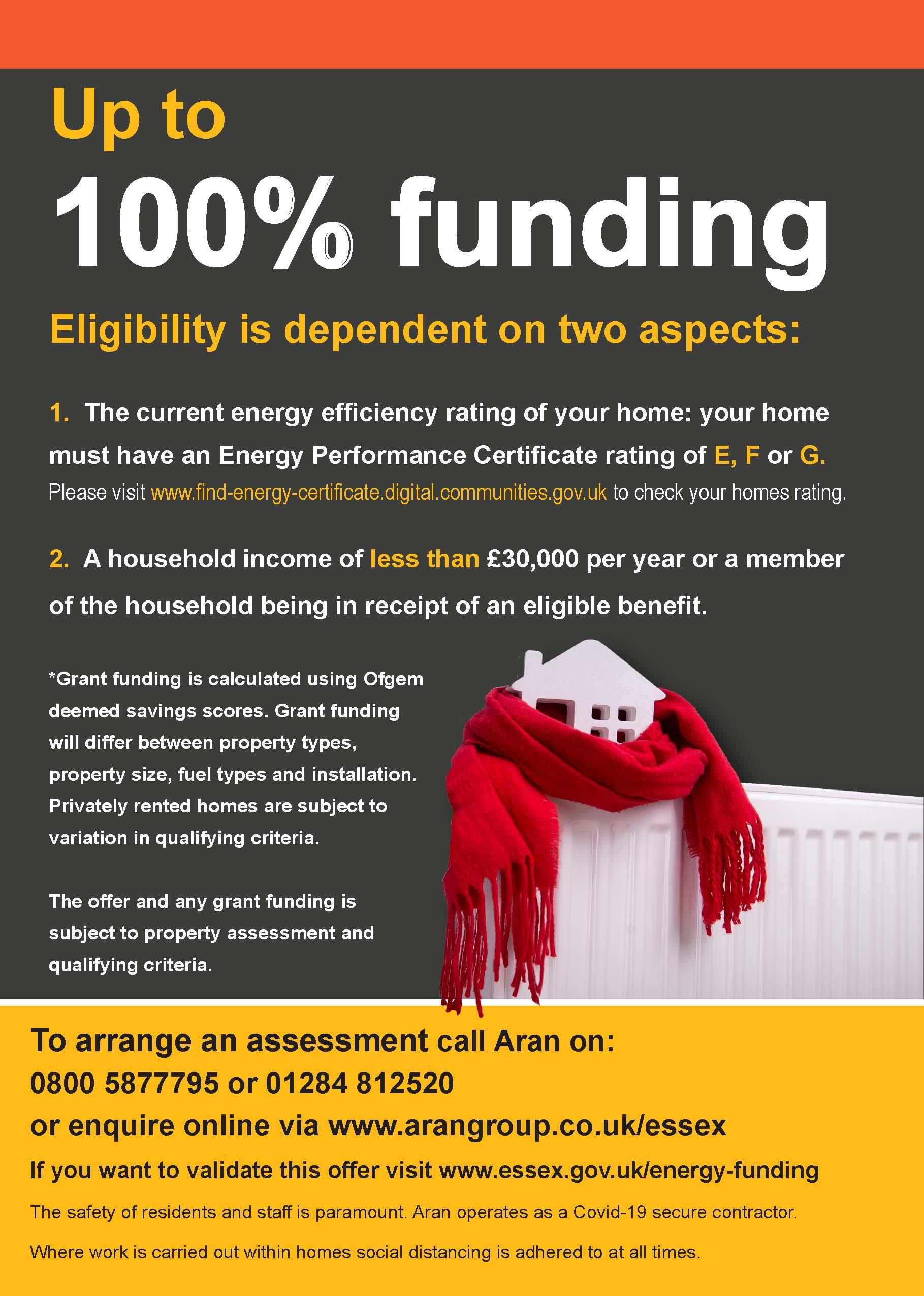 Essex Energy Efficiency Grant Funding Leaflet