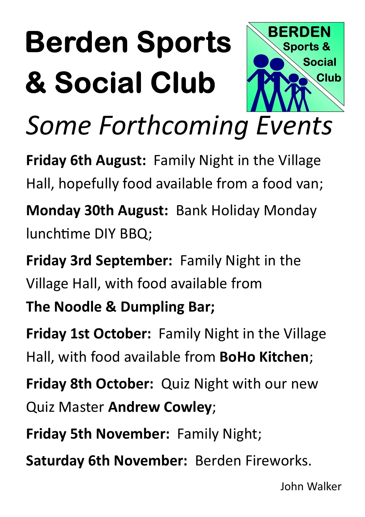 Family Night on Friday 6th August.pub