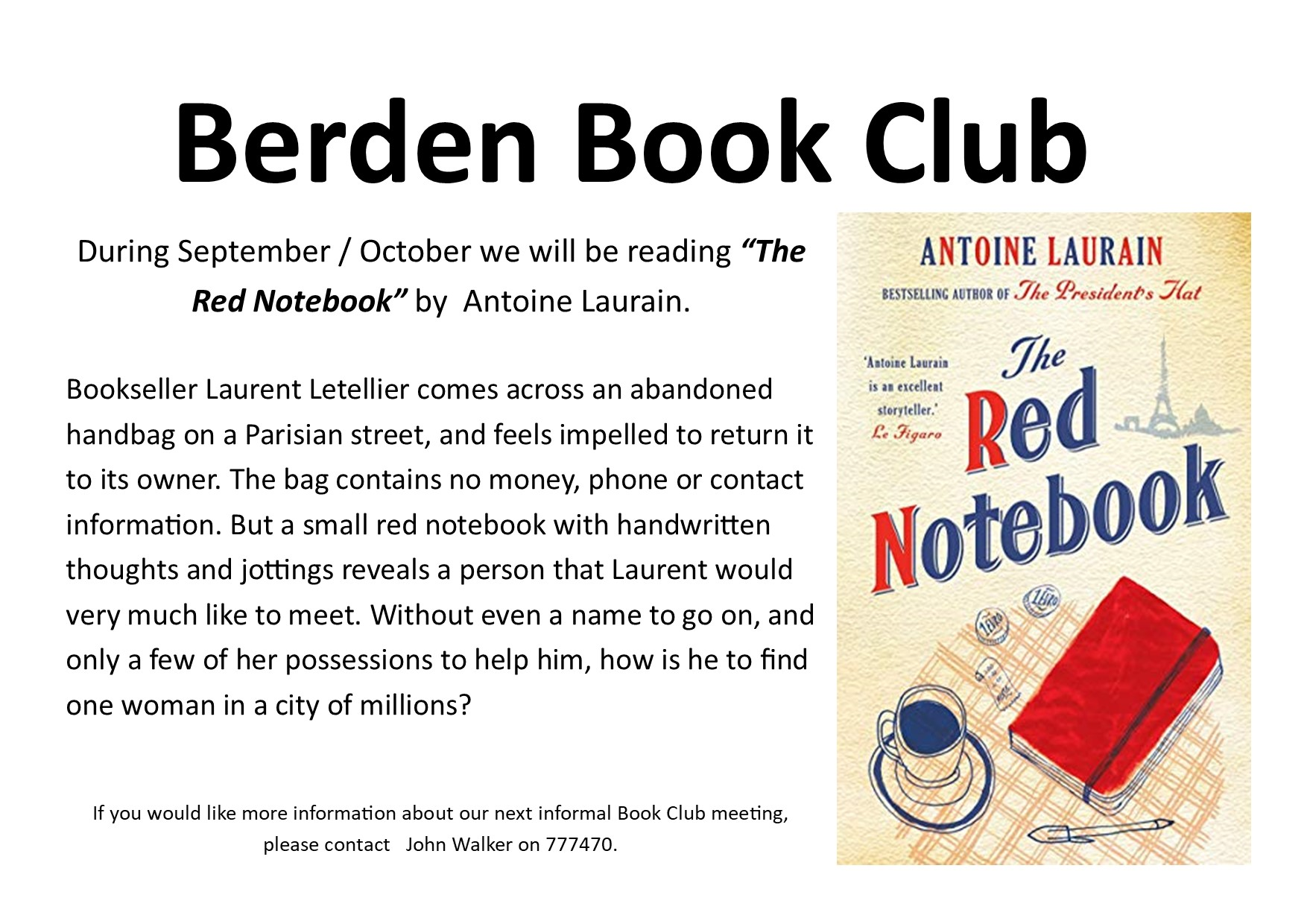 October 2021 Parish News - The Red Notebook
